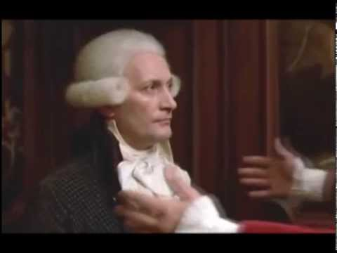 George Danton (Gerard Depardieu)  and Robespierre do lunch. Bad idea, George !