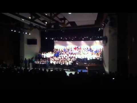 choir concert  at #Lindbergh high school her #Nelson middle preformed
