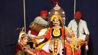 Yakshagana - saligrama mela - manki as sudhanva - shashikanth shetty as  prabhavathi