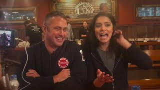Chicago Fire: Taylor Kinney and Miranda Rae Mayo Interview from #OneChicagoDay