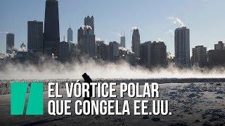 Los efectos del vórtice polar en EEUU: se congelan hasta las puertas