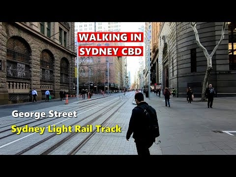 SYDNEY CBD - Walking Along Newly Built SYDNEY LIGHT RAIL Track, Circular Quay To Central | Australia