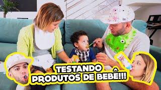 ADULTOS TESTANDO PRODUTOS DE BEBÊ!! (ft. Um Bebê)