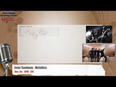 Enter Sandman - Metallica Vocal Backing Track with chords and lyrics