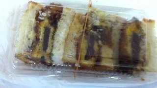 日本橋 新魚栄 鯨カツサンド 150円 カツはソースとマヨネーズで味付...