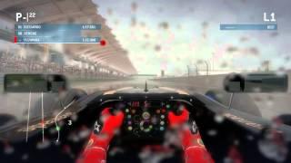 F1 2013 Qualify 1 - Sepang Heavy Rain [PC Gameplay]