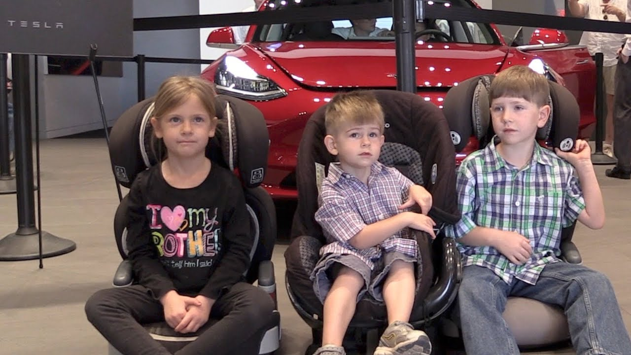 Tesla Model 3 Will 3 Car Seats Fit Youtube