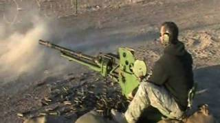 Russian Weapons. 14.5 MM ZPU, RPG 7, VOG 25 and 12.7MM DSHK Firing.