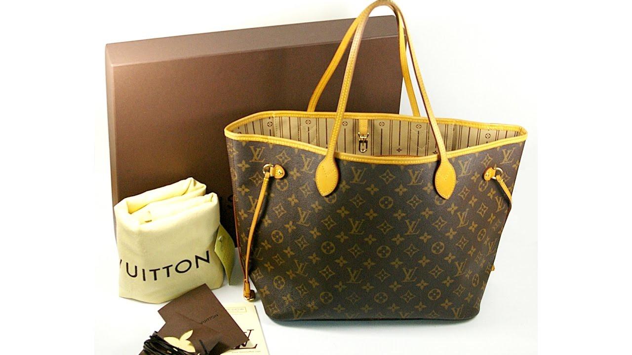 27dd19644205 Authentic Louis Vuitton Neverfull MM Monogram M40156 Packing Video LA010