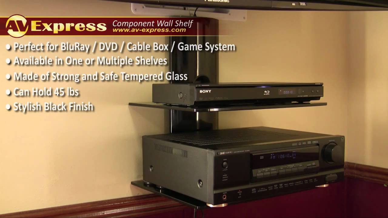 dvd wall mount component shelf av express review. Black Bedroom Furniture Sets. Home Design Ideas