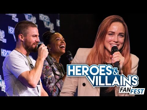 Stephen Amell Batwoman Crossover, Caity Lotz DANCING & More!  HVFF London 2018