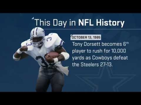 Tony Dorsett Joins the 10,000-Yard Club | This Day in NFL History (10/13/85)