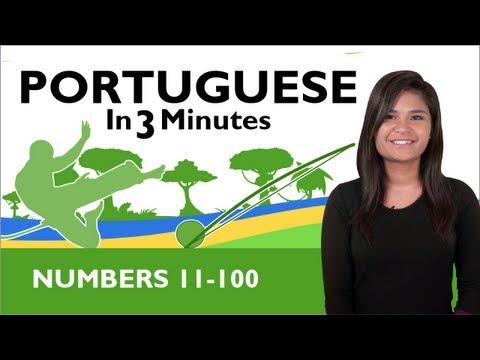 Learn Brazilian Portuguese - Brazilian Portuguese in 3 Minutes - Numbers 11 - 100