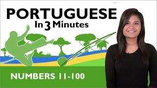 Baixar Learn Brazilian Portuguese - Brazilian Portuguese in 3 Minutes - Numbers 11 - 100