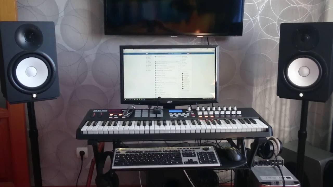 My Home Studio Yamaha HS8HS8S 390 Watts YouTube