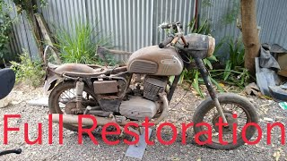 Full Restoration Of Yezdi D250 Classic 1980 ( for spares 9491220222)