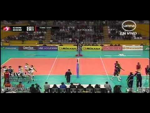China x Rep Dominicana 1set FIVB Women's Junior 2011