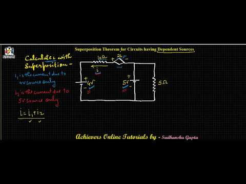 Circuit Analysis   Network Theorems   Superposition Theorem   Dependent sources by Sudhanshu Gupta