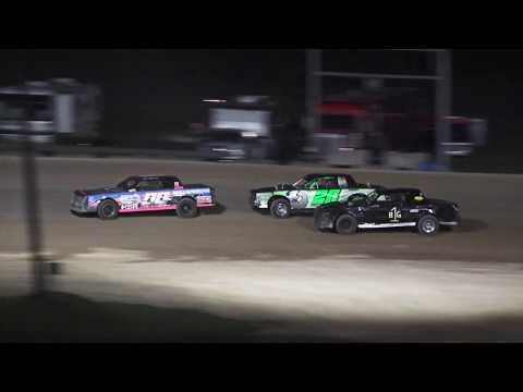 Street Stock Heat Race #3 at Crystal Motor Speedway, Michigan on 08-24-2019!