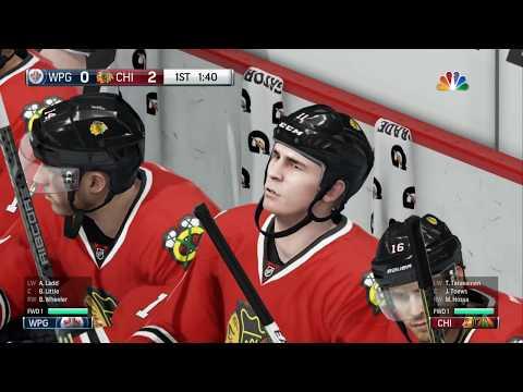 NHL 16 PS4: Blackhawks vs Jets. 1st game test.