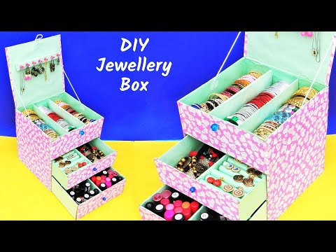 Bangle Box making at home from waste cardboard box | Best out of waste | DIY Jewellery Box