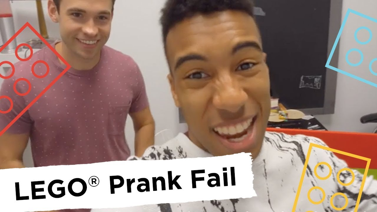 lego brick prank fail - rebrickulous - youtube