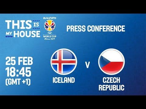 LIVE🔴 - Iceland v Czech Republic - Press Conf - FIBA Basketball World Cup 2019 - European Qualifiers