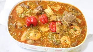How To Cook Okra Soup  Gambian Style  Gumbo  My Twenty-Second Video  Dada&#39s FoodCrave Kitchen