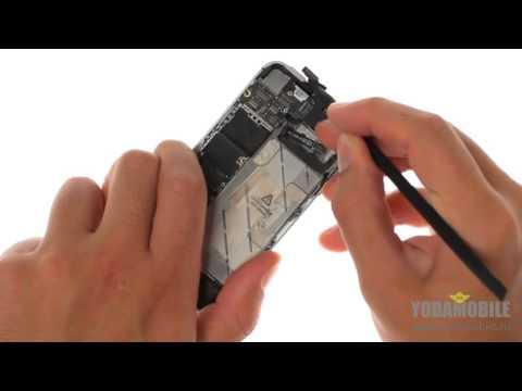 Как поменять экран на 4 айфоне видео