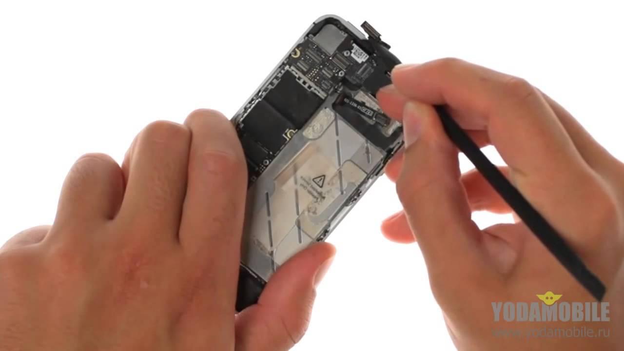 замена дисплея iphone 4s своими руками