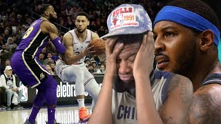 LUKE WHERE IS MELO!?! LAKERS vs SIXERS HIGHLIGHTS