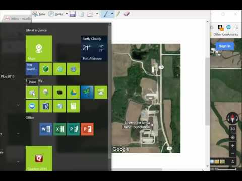 Creating a Farm Map with Google and Paint