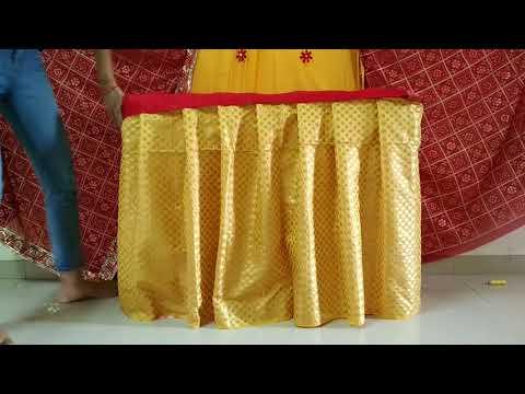 Ganpati decoration with saree at home  best Ganpati makhar decoration ideas