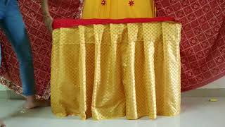 Ganpati decoration with saree at home| best Ganpati makhar decoration ideas