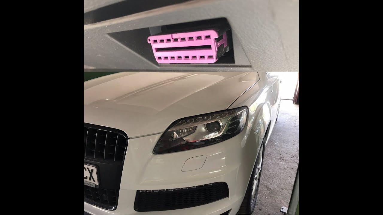 Audi Q400 40L 40 OBD40 Port Location