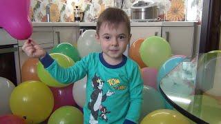 100 de baloane pentru mamica de 8 martie si un arici.  Bogda's show in actiune
