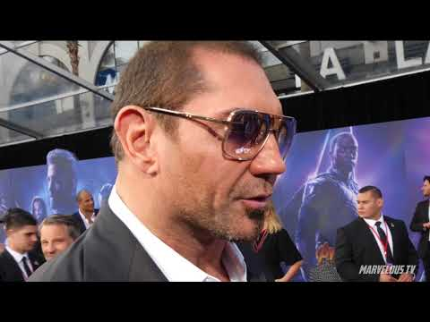 Dave Bautista 'Drax' at AVENGERS: Infinity War World Premiere