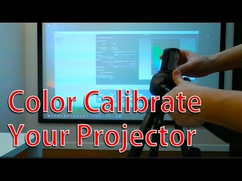 Color calibrate your projector - xrite - YouTube