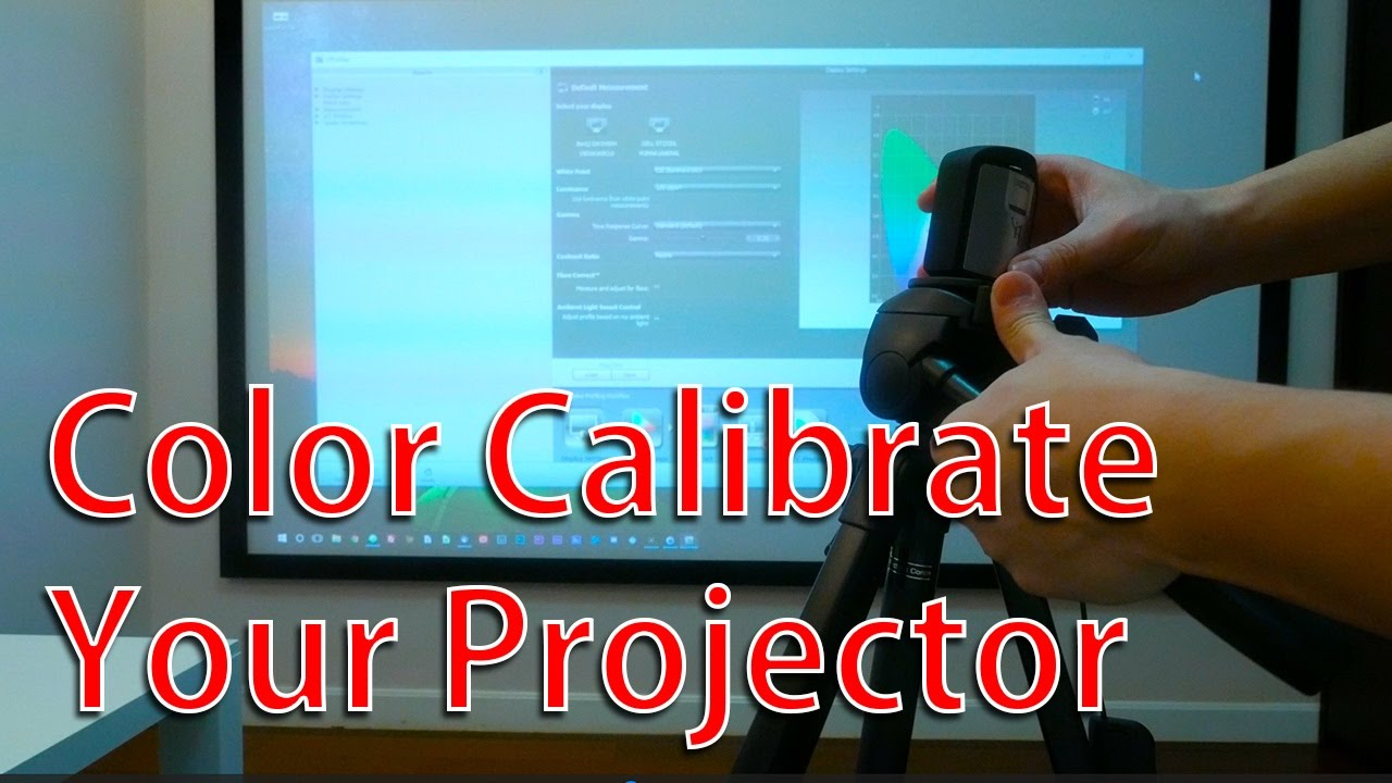 Color calibrate your projector - xrite