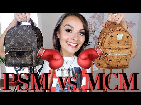 LOUIS VUITTON PALM SPRINGS MINI vs MCM MINI BACKPACK COMPARISION