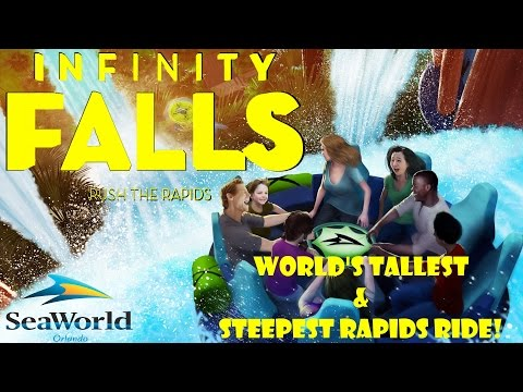 Infinity Falls NEW RIDE at SeaWorld Orlando For 2018!