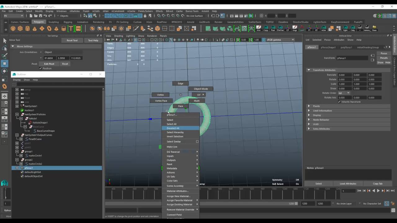 how to create a dynamic chain using Maya
