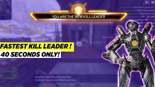 Fastest Kill Leader | 40 Seconds Only! | Apex Legends