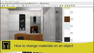 How to change materials on an object