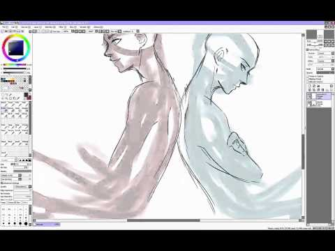 Eren And Levi (line Art) - Speedpaint