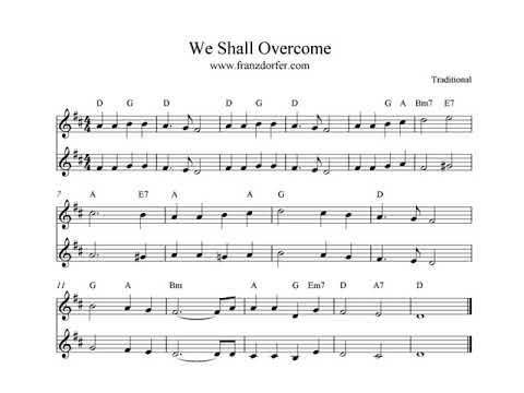 13 Mb Free We Shall Overcome Piano Sheet Music Mp3 Java Music