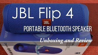 JBL Flip 4 (Blue) Unboxing and Review