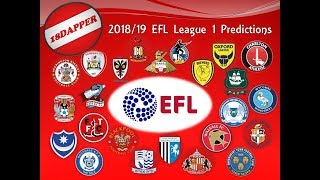 2018/19 League 1 Predictions