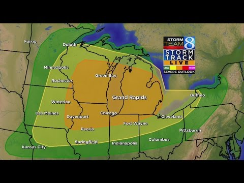 Severe weather chance on Monday