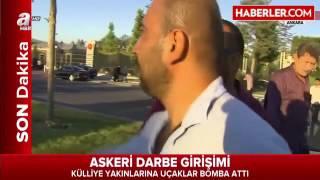 Ankara 39 da İki F16 Uçağı Cumhurbaşkanlığı Külliyesi Civarını Bombaladı 5 Ölü